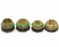 Water Tank Brass Outlets Connector fittings with NBR Gasket