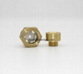 """3/4"""" circular / hex oil sight glasses with flat glass"""