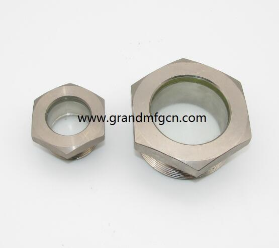 G thread 1 1/2 inch fused oil sight glass