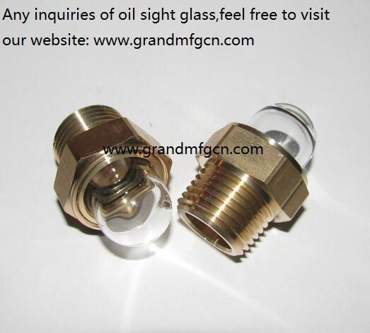 borosilicate domed brass oil sight glass