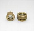 G 3/4 inch hex brass oil sight glasses