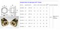 NPT brass oil sight glass size specifications