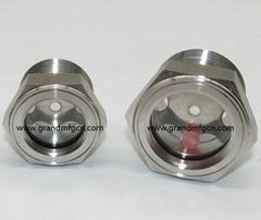 SUS304 不锈钢油位观察视镜液位计油窗有挡板耐高温高压