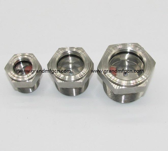 SUS304 不锈钢油位观察视镜液位计油窗有挡板耐高温高压 17