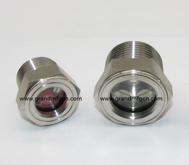 SUS304 不锈钢油位观察视镜液位计油窗有挡板耐高温高压 9