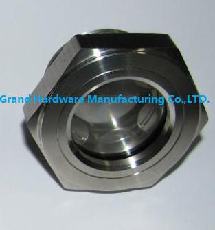 SUS304 不锈钢油位观察视镜液位计油窗有挡板耐高温高压 10
