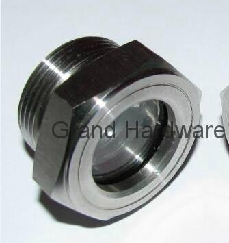 SUS304 不锈钢油位观察视镜液位计油窗有挡板耐高温高压 12