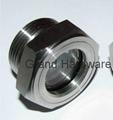 SUS304 不鏽鋼油位觀察視鏡液位計油窗有擋板耐高溫高壓 12