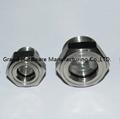SUS304 不鏽鋼油位觀察視鏡液位計油窗有擋板耐高溫高壓 16