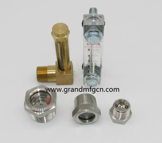 STAINLESS STEEL 304 SIGHT GLASS FOR GREASE AND OIL CONTAINERS