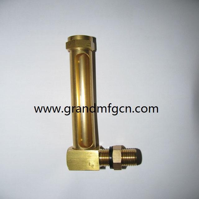 油液位铜管油标 12