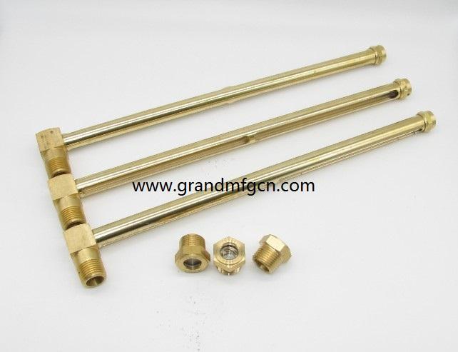 L brass oil level sight gauges