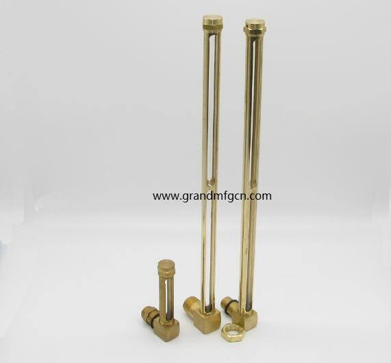 brass oil level gauge indicator with quartz glass tube G 1/4