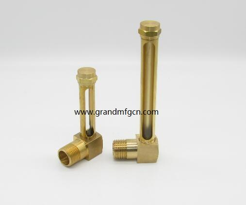 brass oil level sight gauge npt thread 1/4