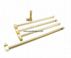 Brass Oil level gauge with glass tube(L Type)