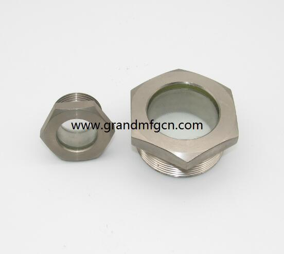 fused oil level sight glass G thread 2 inch