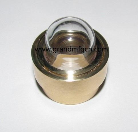 domed shaped brass oil sight glass 3/8 inch