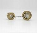 brass peep hole observation oil level sight glass
