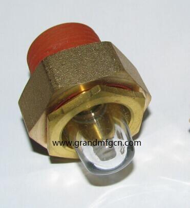 1寸NPT液壓機齒輪箱減速機泵用配件黃銅油鏡油窗 12