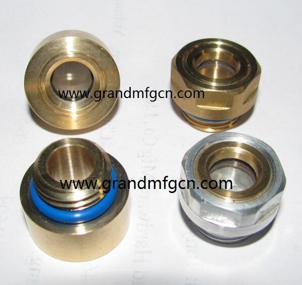 brass / aluminum oil level sight glass