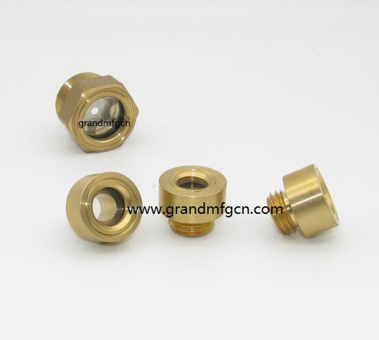 NPT brass hex oil level sight glass indicators