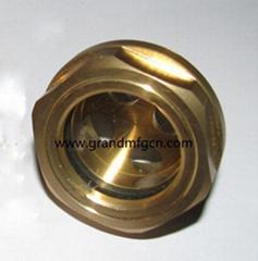 出口设计圆形黄铜油镜油位计油窗液位指示器油塞通气帽