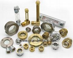 brass oil sight glass for oil level observation