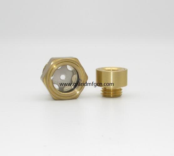 黃銅液油鏡各式定製油鏡減速機壓縮機油鏡油塞 19