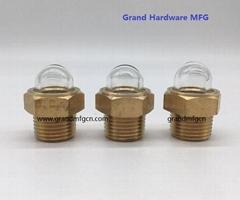 NPT 1/2 inch radiator dome oil glass sights flow indicators