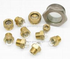 有球面玻璃的黄铜油镜油窗观察镜可拆装可定做GM-HDM20