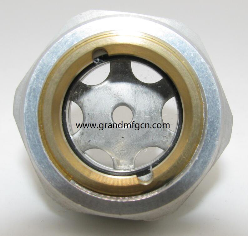 "G1/4"" 1/2"" 3/8"" 1"" 1 1/4"" Aluminum oil level sight glasses for air compressors"