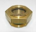 flat glass oil sight glass