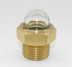 """3/4"""" NPT 1/2"""" 圓球玻璃油鏡,球面油窗,油眼,油標,視油鏡液油視鏡"""