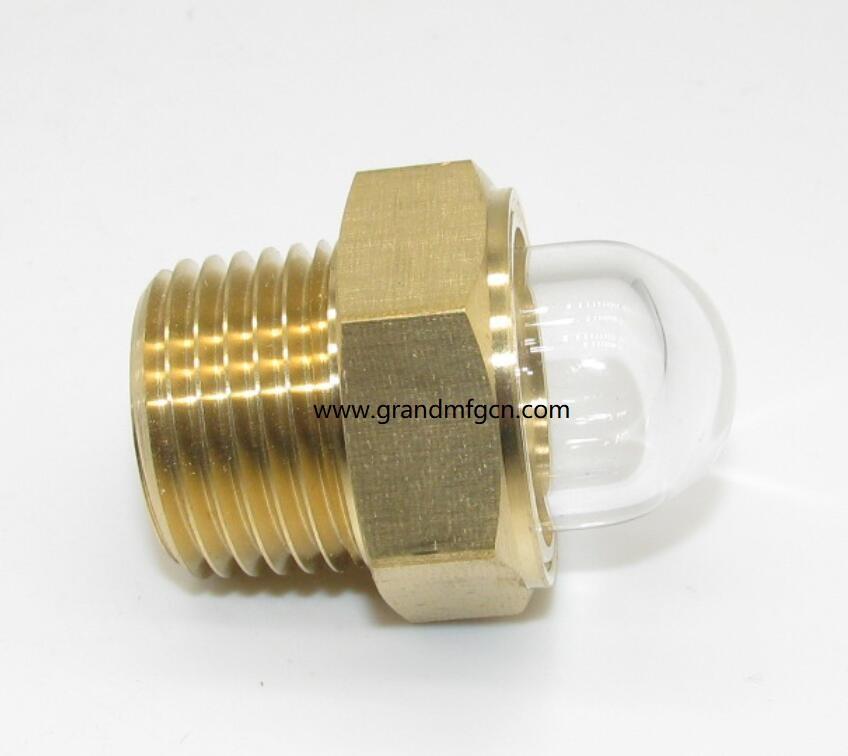 domed brass oil sight glass npt 1/2