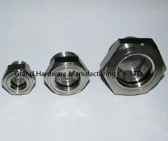 "304 stainless steel oil sight plugs NPT1"""