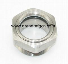 "1"" NPT Stainless Steel 304 Bulls Eye BHO oil Extractor peep hole sight glass"