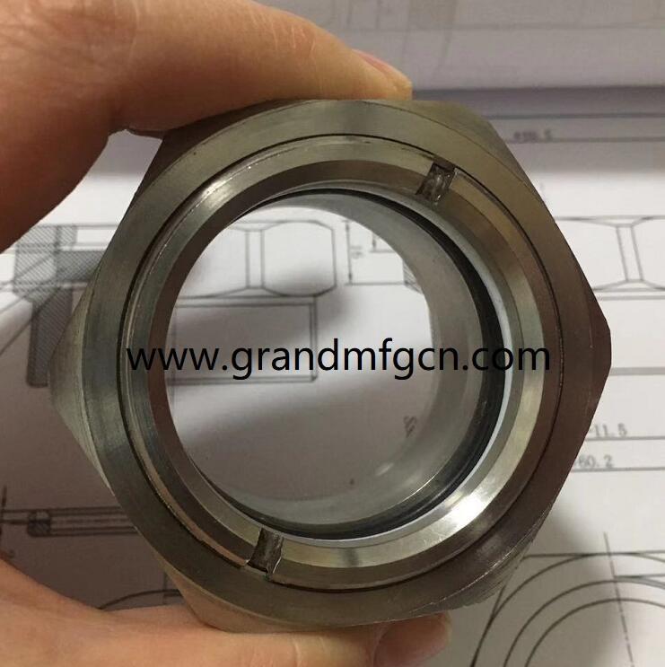 custom ss304 oil sight glass