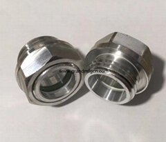 G 1/2 INCH male thread aluminum oil level checking sight glass window in stock