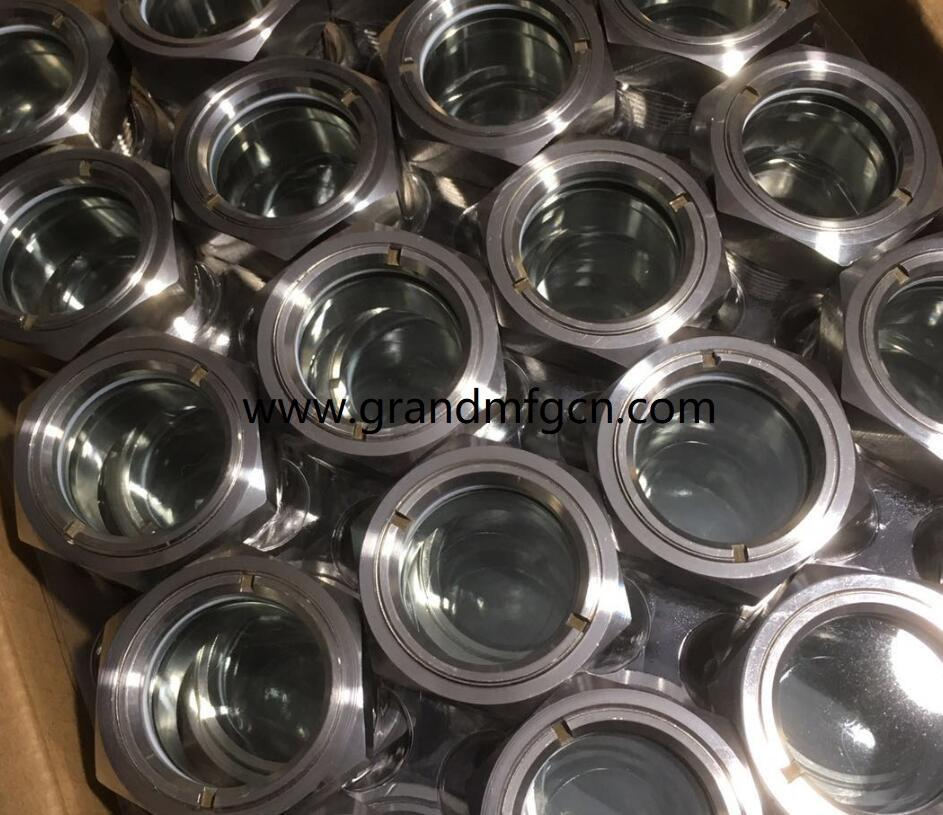 NPT 1 inch 2 inch glass lined reactor SS304 observation sight glass sight window 2