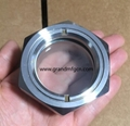 M36X1.5 chemical stainless steel jacketed reactor SS304 observation sight glass  3