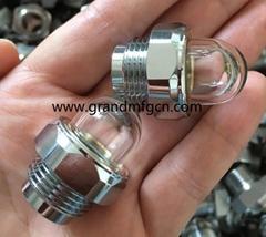 """G1/2"""" G3/4"""" Brass oil level sight glass 3D bulleyes oil sight glass sight gauge"""