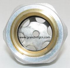 Aluminum alloy oil standard Oil mirror Hexagon screw-in oil sight glass window