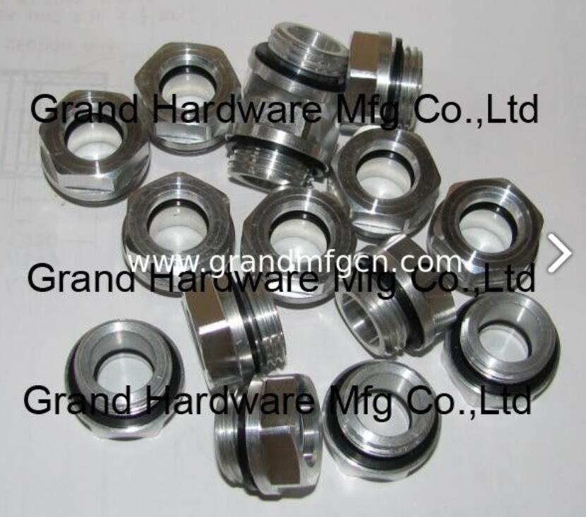压缩机配件定制铝油镜不锈钢油镜黄铜油镜液位器油位器 4