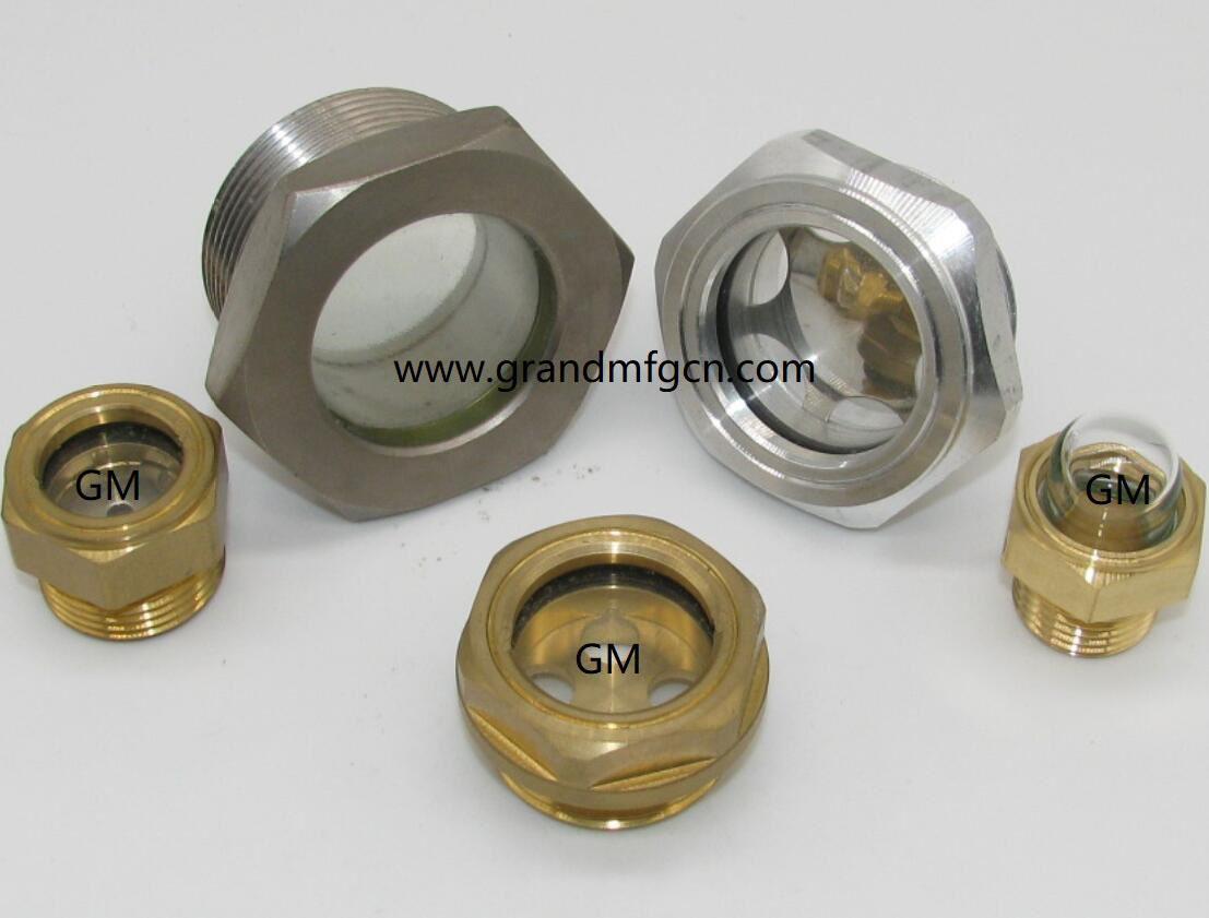 压缩机配件定制铝油镜不锈钢油镜黄铜油镜液位器油位器 5