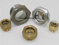 "Aluminum alloy oil standard Oil mirror Hexagon oil sight glass window BSP3/4"""