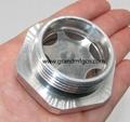 压缩机配件定制铝油镜不锈钢油镜黄铜油镜液位器油位器 8