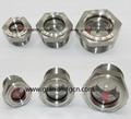 全不锈钢液油视镜NPT螺纹容器观察镜油位器 4