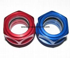 M27x1.5 thread anodizing color aluminum oil level sight glass gauge indicators