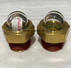 YZ易泽NPT1/2半球形油窗观察镜凸顶油镜GM-HDN12