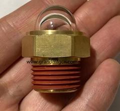 GM-HDN38 易泽NPT3/8半球型油窗油位观察镜油镜